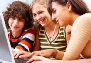 Teenagers Studying